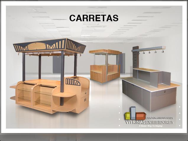 Manufacturera de vitrinas mostradores carretas kioscos for Kioscos bares de madera somos fabricantes