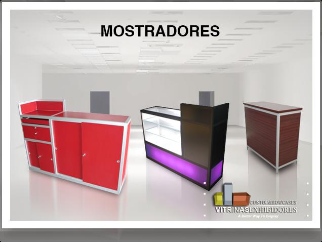 Manufacturera de Vitrinas, Mostradores, Carretas, Kioscos, Mobiliario